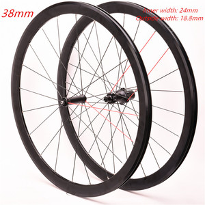 Комплект велосипедных колес 700C из алюминиевого сплава, два передних задних и четырех подшипника, 38 мм