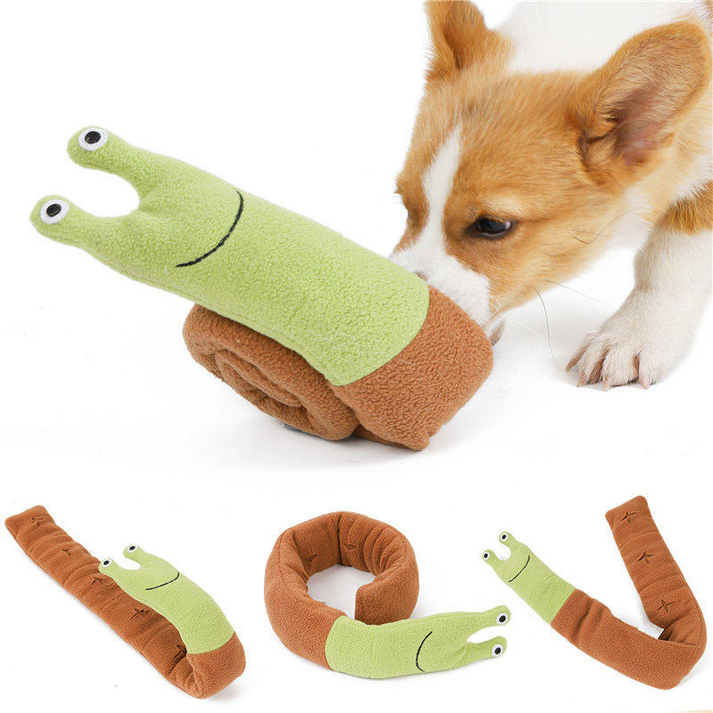 Interactive Dog Puzzle Snails Toys Encourage Natural Foraging Skills Portable Nonslip Pet Snuffle Mat Slow Feeder