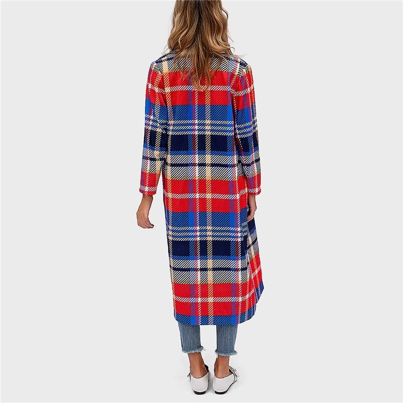 striped plaid lapels printed jackets 1