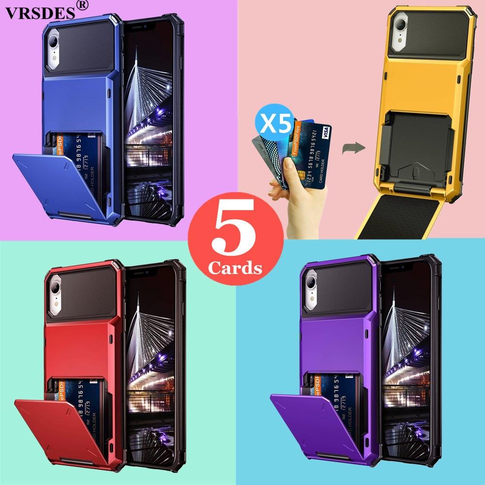 Para iPhone X XS XR XS MAX SE 2 SE 2020 cartera ranura para tarjeta de crédito para iPhone 7 8 6 6S Plus 11 Por Max 6,5 6,1 5,8