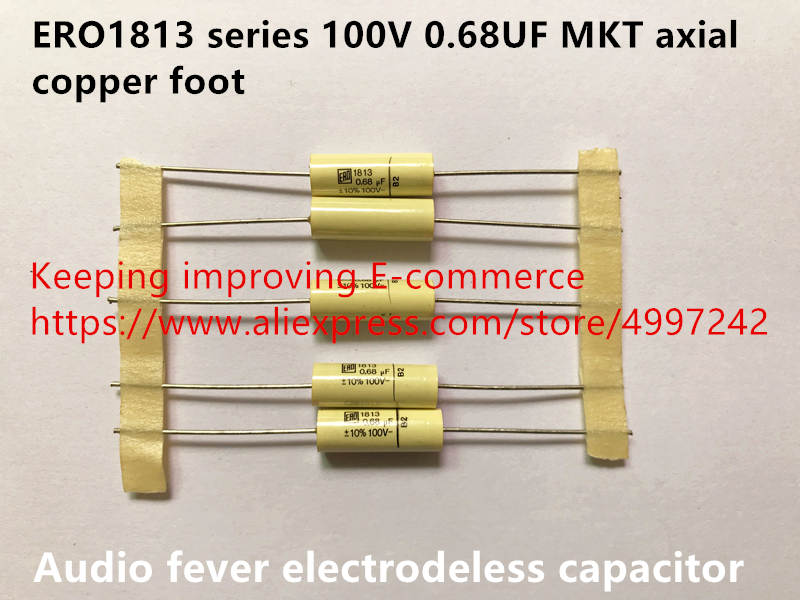 Original new 100% Germany import ERO1813 series <font><b>100V</b></font> <font><b>0.68UF</b></font> MKT axial copper foot audio fever electrodeless capacitor (Inductor) image