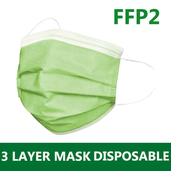 100PCS Mask Disposable FFP2 Non wove 3 Layer Ply Filter Mask mouth Face mask Breathable Earloops Masks Mascarilla mas