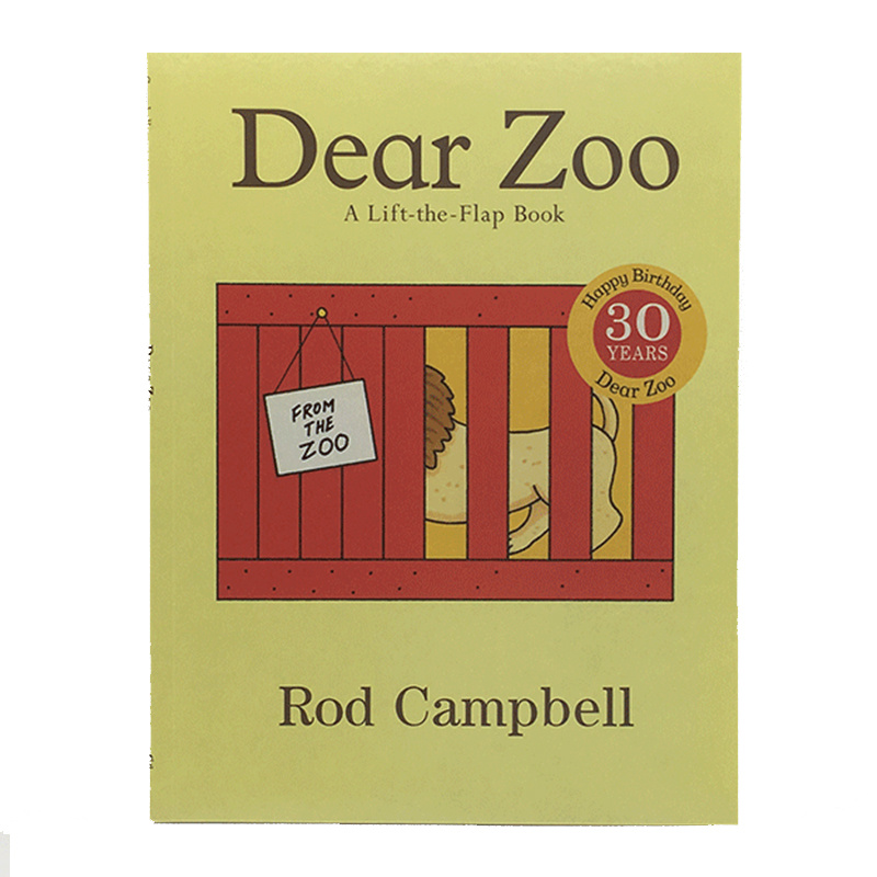 Dear Zoo: A Lift-the-Flap Book By Rod Campbell Educational English Picture Book Card Story Book For Baby Kids Children Gifts