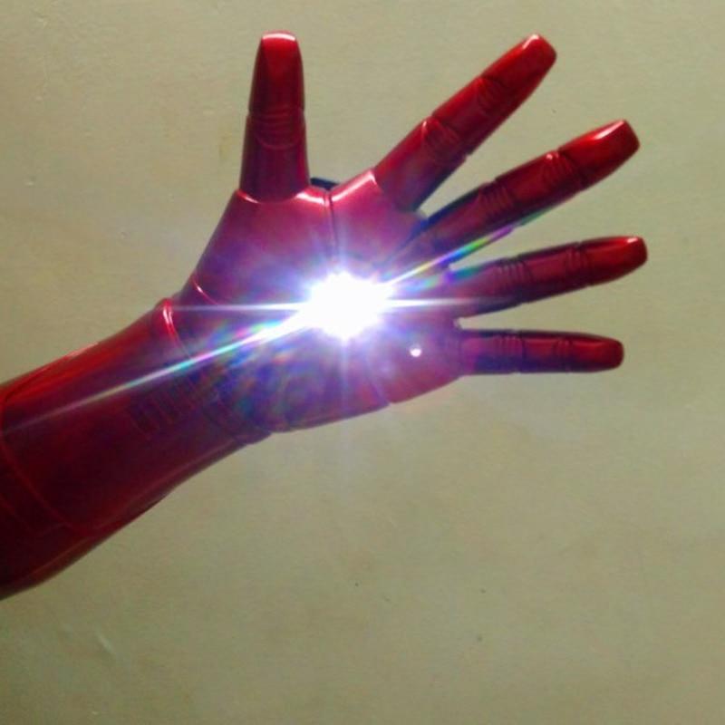 1/1 fer homme Laser édition portable illuminé électrique gants repulseurs Tony Stark Cosplay accessoires adultes enfants jouets
