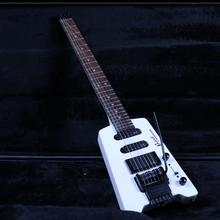 Flat Headless Electric Guitar Z-ZV11 White Colour Tremol Bridge Factory Custom Shop