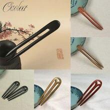 Oaoleer женские аксессуары для волос деревянные гребни резная