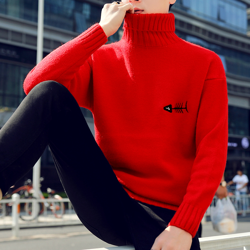 Image 5 - 2019 New Winter Thick Warm Cashmere Sweater Men Turtleneck Printed Mens Christmas Sweaters High Quality Fashion Men's Pullovers-in Pullovers from Men's Clothing