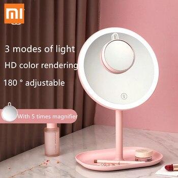Xiaomi Mijia Jordan&Judy LED Makeup mirror Touch control LED natural Fill Light Cosmetic Vanity Mirror Adjustable Storage Base