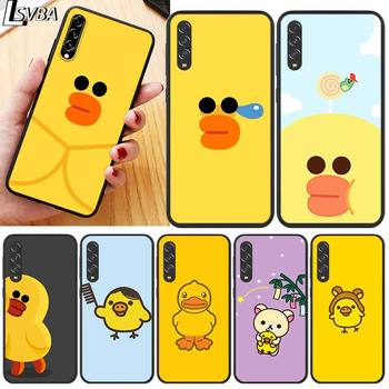 cool yellow duck for Samsung Galaxy A90 5G A80 A70S A70 A60 A50 A50S A40 A30S A20S A20E A20 A2 Core A10 Phone Case - discount item  24% OFF Mobile Phone Accessories