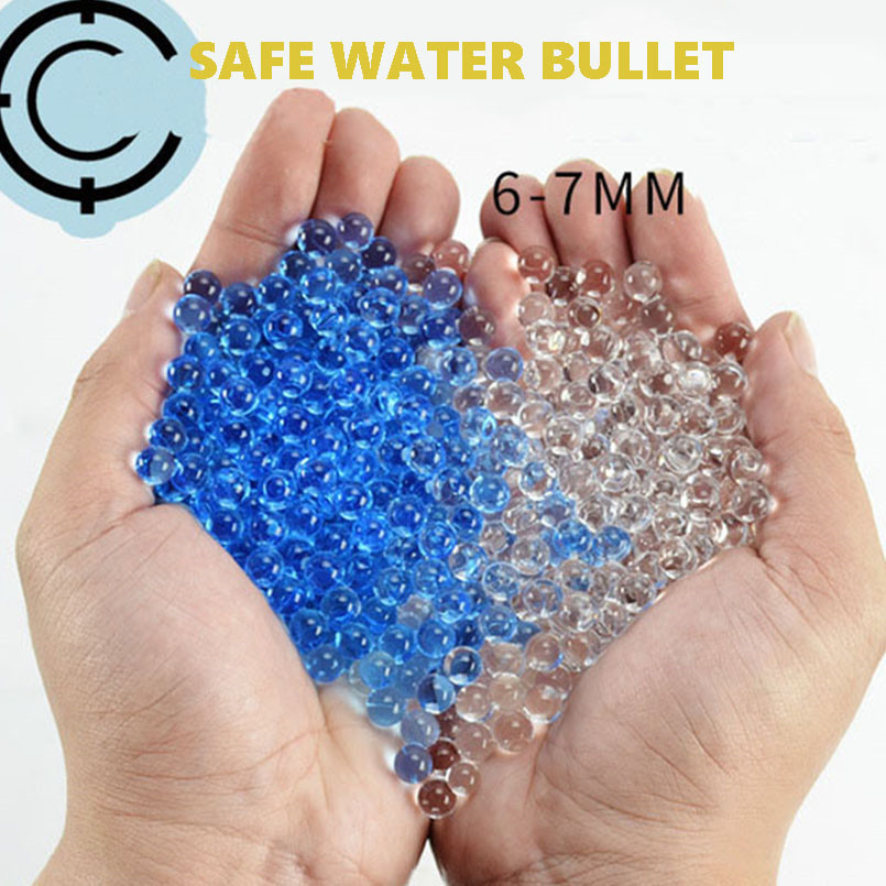 10000Pcs 6mm Water Bullet Toys Gun Accessories Crystal Soft Bullets Paintball Glock Water Beads Grow Balls Boys Toy Home Decor