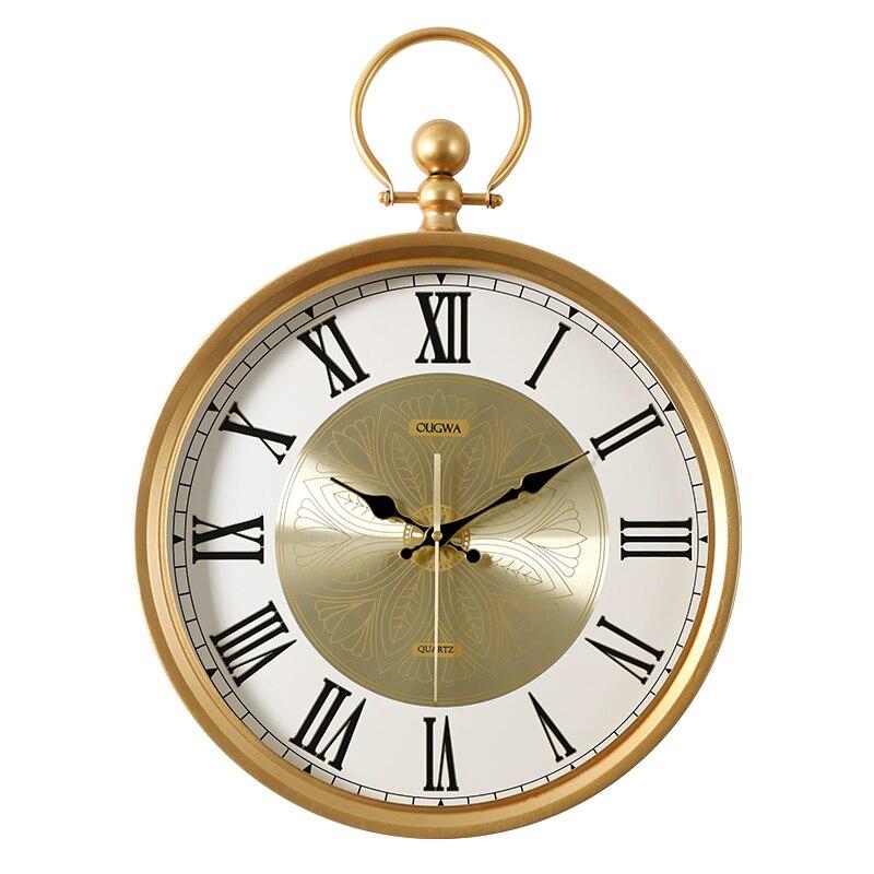 Nordic Creativo Orologio Da Parete Muto Salotto Moderno Semplice Orologio Di Lusso Casa di Moda Reloj Pared Madera Orologio Da Parete DD6WC - 2