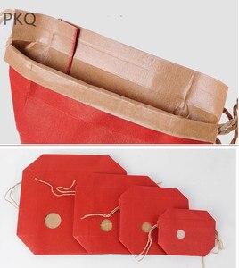 Image 3 - 20pcs Kraftpapier Verpakking Met Handvat Thee Voedsel Pakket Papier Doos Event Partij Gunst Gift Opbergtas