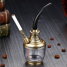Cigarette Tobacco Bottle glass hookah  water pipes for smoking accessories hookahs