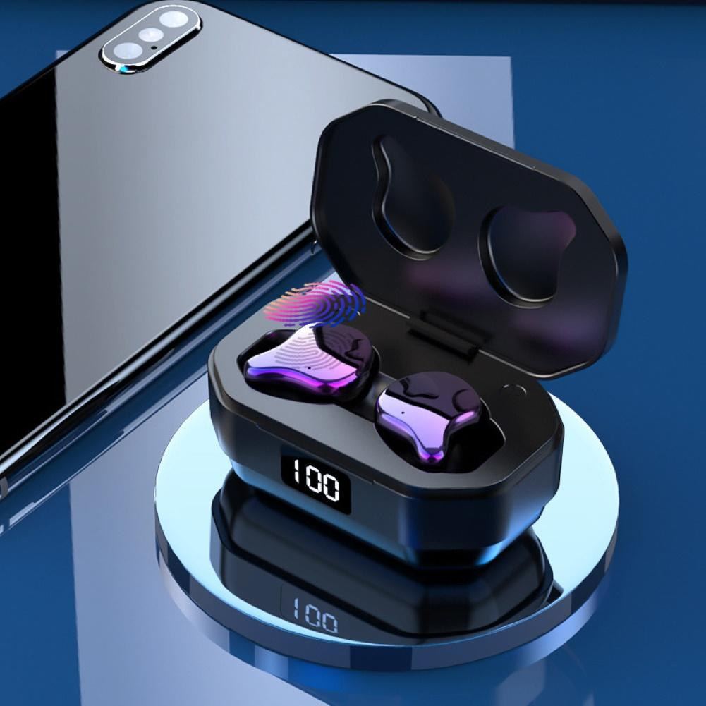 G01 TWS Power Display Bluetooth 5.0 Fingerprint Touch Earphones, HD Stereo Wireless ,Noise Cancelling Gaming Headset