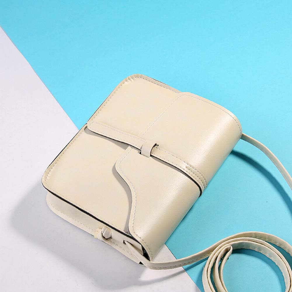 25 Wanita Tas Kurir Selempang Kulit PU Lembut Bahu Tas Vintage Dompet Tas Kulit Selempang Bahu Messenger Bag