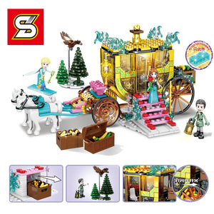 Image 4 - Amigas SY1429 SY1430 SY1431 SY6580 Castillo de la princesa de la nieve Anna Olaf City, tienda de comestibles, bloques de construcción de ladrillos, regalos para niños