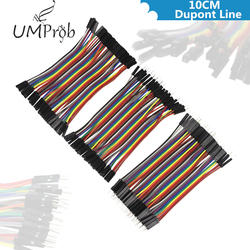 Línea de 10CM Dupont macho a macho + macho a hembra y hembra a hembra puente Cable Dupont Cable para arduino Diy Kit