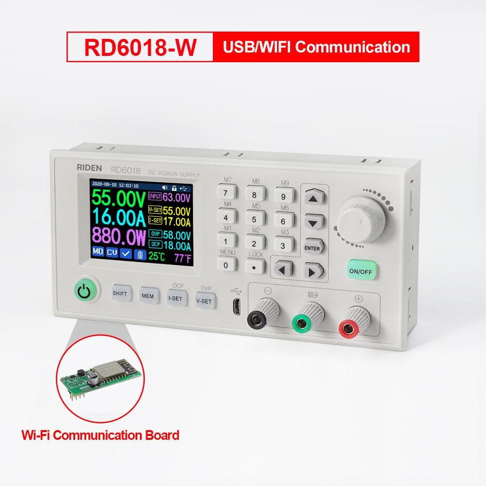 RD RD6018 RD6018W USB WiFi cc à tension cc Module dalimentation abaisseur convertisseur mâle voltmètre multimètre 60V 18A outil WI-FI