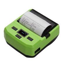 Портативный беспроводной BT 80 мм тепловой принтер штрихкода с перезаряжаемой батареей экран дисплея USB кабель для Android, IOS, windows