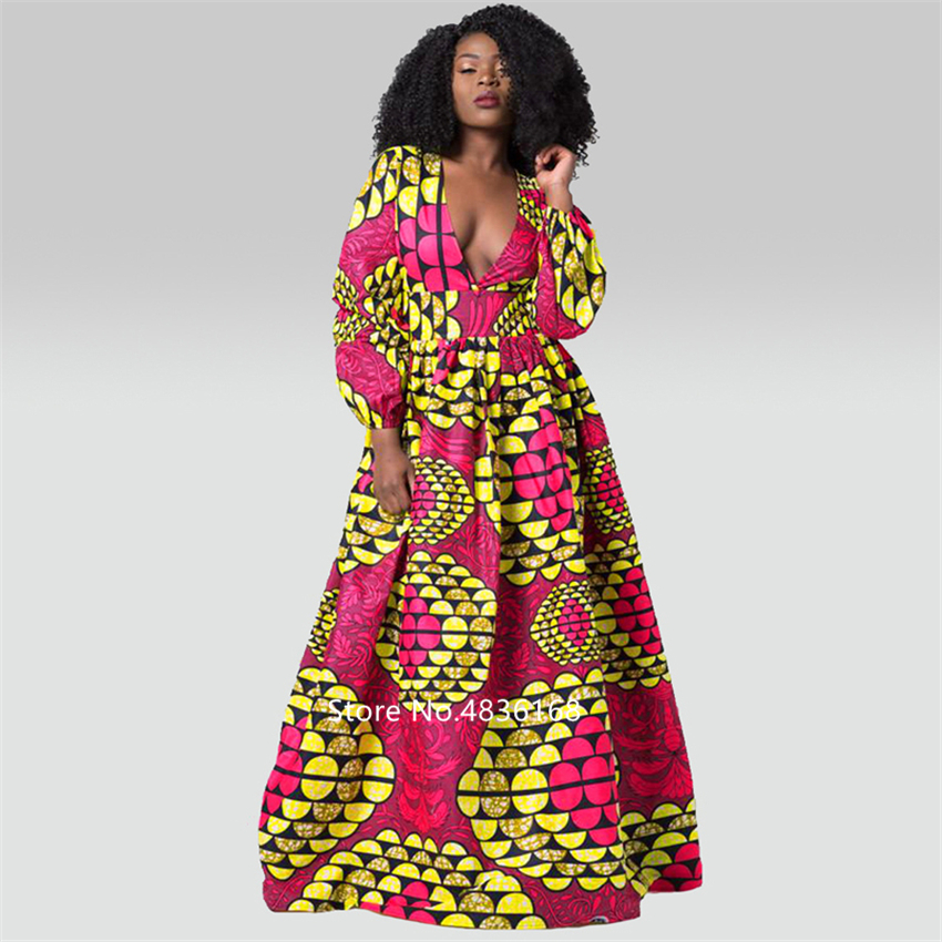 @Kasi V neck african dress