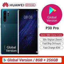 100% original versão global huawei p30 pro mobilephone 6.47 8 8 8gb 256gb kirin 980 octa núcleo android 10 na tela até 50x zoom