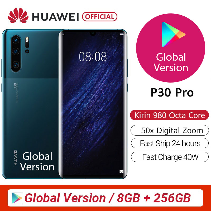 100% Original Global Version Huawei P30 Pro MobilePhone 6.47'' 8GB 256GB Kirin 980 Octa Core Android 10 in screen up to 50x zoom|Cellphones| - AliExpress