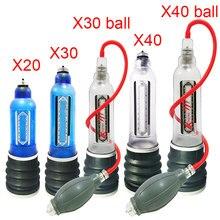 X20 X30 X40 Penis Pump Penis Enlargement Cock Enlarge Water Penis Extender Vacuum Pump For Men Dick Erection Sex Toy For Gay Men