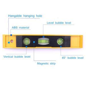 Image 1 - Chaud 230mm 9.06 pouces bulle niveau règle magnétique 3 niveau bulle verticale/horizontale/45 degrés niveau Instruments de mesure