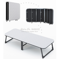 Folding bed type single home adult lunch bed office nap bed simple wooden bed