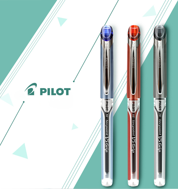 9 個パイロット Hi Tecpoint グリップ BXGPN V5 0.5 ミリメートル極細ローラーペンゲルペンテスト特殊なペン日本黒/青/赤の色