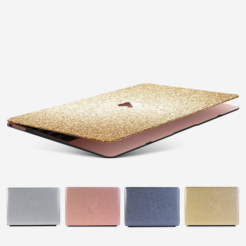 Case For Macbook Air Pro Retina 11 12 13 15 Glitter Bling Transparent Cover For Mac Book 13.3 15 Inch A1466 A1932 A1708 A1398
