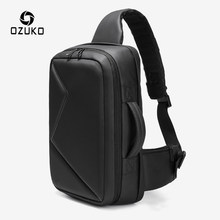 OZUKO Men 12.5 inch iPad Large Capacity Crossbody Bag Waterproof Messenger Shoulder Bag Chest Pack Business Sling Bags for Male(China)