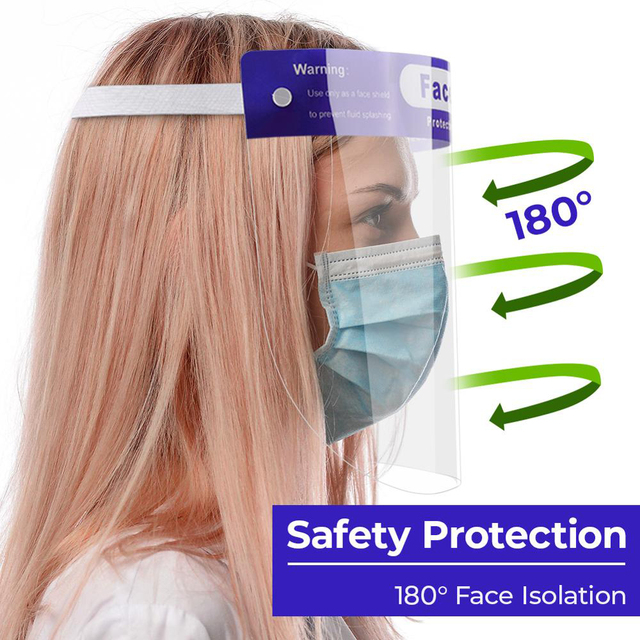 Anti saliva Splash-proof Face Shield Mask Dust-proof Transparent Protective Facial Face Mask Protection Eye Mouth Full Face Mask 2