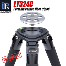 LT324C Portable 10 Layers Carbon Fiber Tripod for Camera Bird Photography Heavy Stand DSLR Ballhead Fluid Head 75mm Bowl Adapter