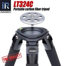 LT324C Trípode De Fibra De Carbono portátil de 10 capas para cámara, soporte pesado para fotografía de pájaros, cabezal de bola DSLR, adaptador de cuenco de 75mm