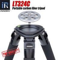 LT324C trípode de fibra de carbono portátil para cámara fotografía de aves soporte de alta resistencia DSLR cabeza de bola fluida adaptador de cuenco de 75mm