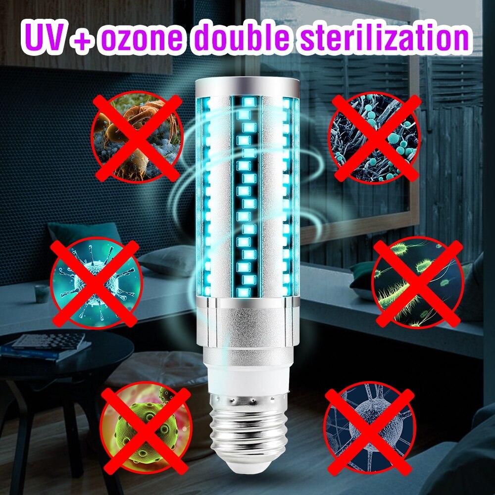 WENNI E27 Ultravioleta Desinfeccion Corn Bulb LED Disinfection UV Light Sterilizer Lamp UVC LED Bulb 15W 20W LED Germicidal Lamp