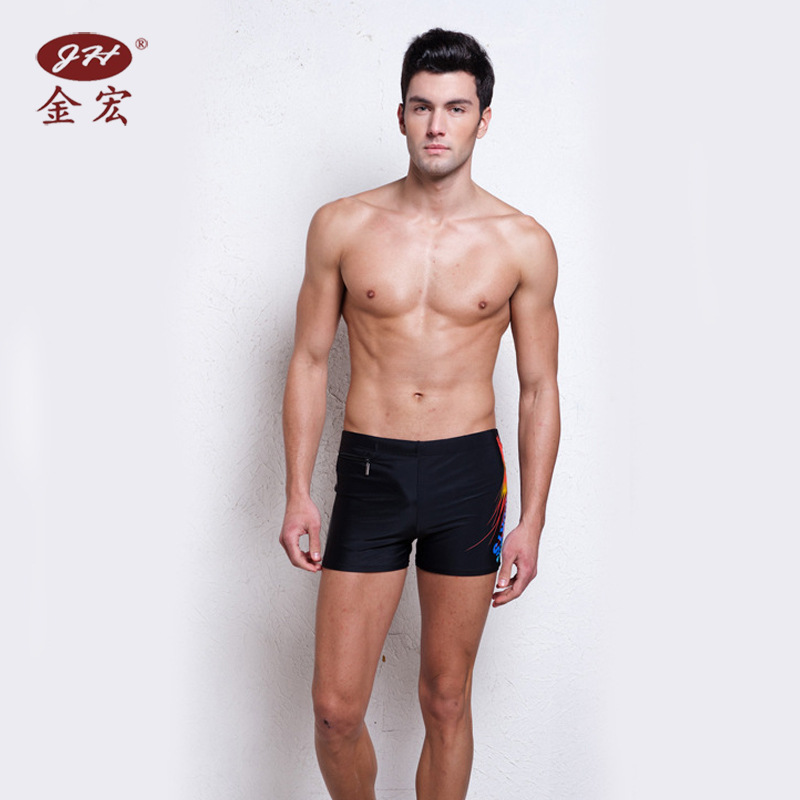JH Swimming Trunks Men's Boxer Fashion Genuine Product Fashion Men Swimsuit Lace-up Adult Bubble Hot Spring Swimming Trunks