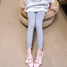 Girls Leggings Winter Cotton Solid Color Warm Skinny Pants Bow for Teenage Kids Stretchy Trousers