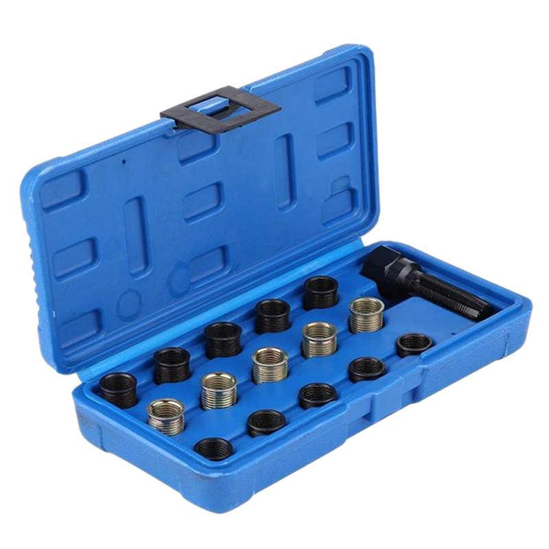 16 шт. профессиональный набор инструментов для ремонта резьбы 14 мм X 1,25 для автомобиля с искровым зажимом и чехол
