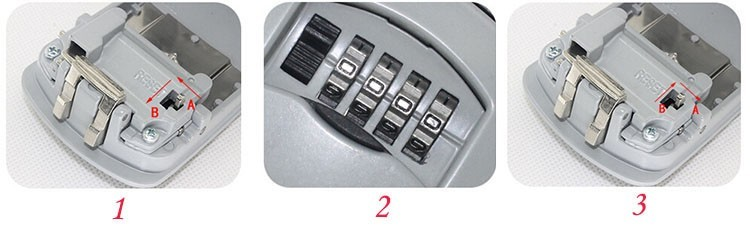 Key Storage Box Digit Wall Mount Combination Lock With Four Password Keys Safe Box  Zinc Alloy Material Security Organizer Boxes (777)