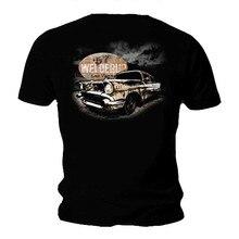 2019 Fashion  Garage Custom Car T Shirt Rusty 57 Chevy Hot Rod Rat Tee shirt