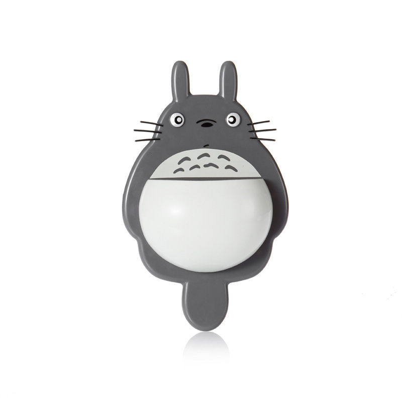 Multifunction Toothbrush Wall Mount Holder Cute Totoro Sucker Suction Bathroom Organizer Family Tools Accessories Drop Shipping