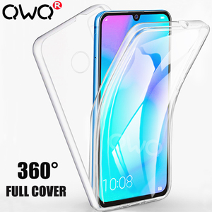 360 Full cover Protective case for huawei p30 p20 Mate 20 30 lite pro p smart 2019 2018 NOVA 3 Transparent Front+Back phone Bag(China)