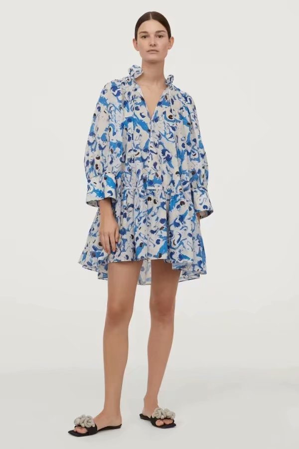 Summer Dress 2020 Sexy Dress Vintage Plus Size Cotton Voile Fabric Fluffy Zaraing Women Dress Sheining Vadiming Female Xdn9495