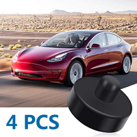 Accessory Lift Adapters Tool Parts 4pcs For Tesla Model 3 O ring Neoprene Black Anti slip Replacement Car