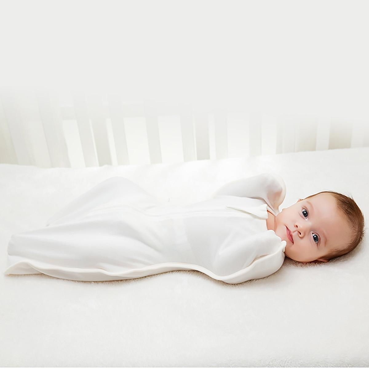 Infant Cocoon Baby Sleeping Bag Envelope For Newborn Sleep Sack 0-3 Months Bamboo Fiber Swaddle 2 Zipper Designer Sleepsack Baby