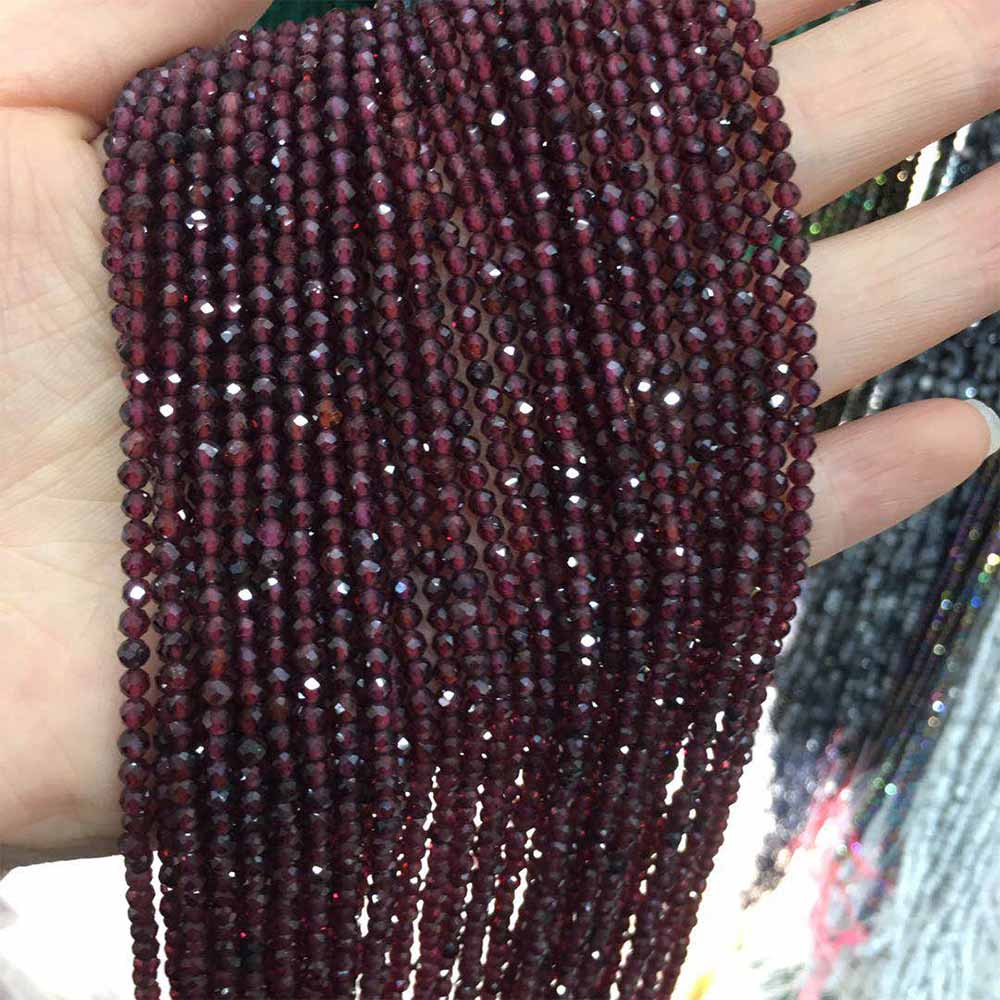 Бусины из натурального камня граненые маленькие бусины Amethys 3 мм секционные свободные бусины для изготовления украшений ожерелья DIY браслет|Бусины|   | АлиЭкспресс