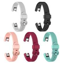 ALLOYSEED-repuesto de silicona blanda para reloj Fitbit Alta HR, pulsera de Fitness, correa de muñeca, correa de reloj con hebilla
