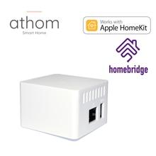 O servidor homebridge de athom homekit trabalha com anel de ninho ecobee sonos tuya smartlife